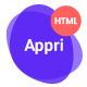 Appri - App Landing HTML5 Template - ThemeForest Item for Sale