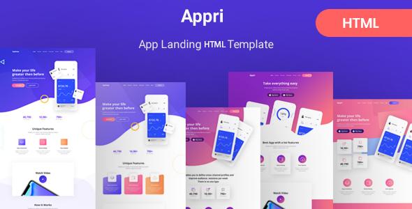 Appri - App Landing HTML5 Template