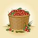 Retro Basket Of Cherries - GraphicRiver Item for Sale