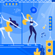 Night Club Party with Go-Go Dancer in Costumes - GraphicRiver Item for Sale