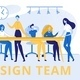 Design Team Group of Creative Men and Women Banner - GraphicRiver Item for Sale