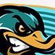 Duck Sports Mascot - GraphicRiver Item for Sale