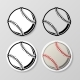 Baseball Symbol Stickers Set - GraphicRiver Item for Sale
