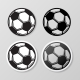 Football Symbol Stickers Set - GraphicRiver Item for Sale