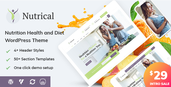 Nutrical - Health and Diet WordPress Theme