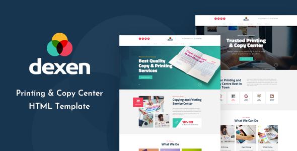 Dexen - Printing and Copy Center HTML Template