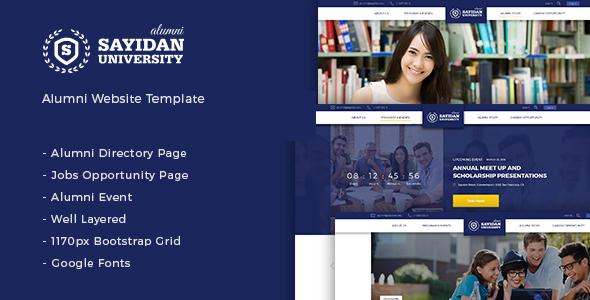 Sayidan - University Alumni WP theme