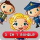 Boy, Girl, Occupation Mascot Bundle - GraphicRiver Item for Sale