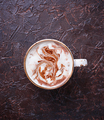Cup of coffee with latte art - PhotoDune Item for Sale