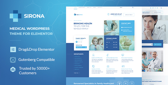 Sirona | Medical & Health WP Theme for Elementor