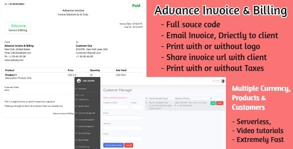 Advance Billing and Invoice | Asp Core