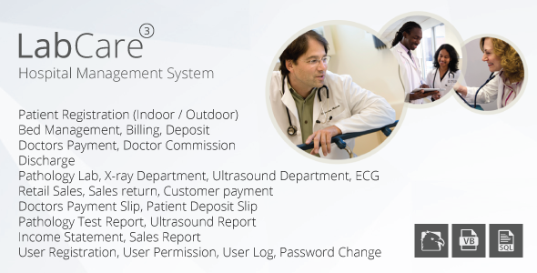 LabCare - Hospital Management System (Billing, Pathology, Ultrasound, ECG, Retail)