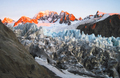 Fox Glacier and Surrounding Peaks at Sunset in New Zealand - PhotoDune Item for Sale