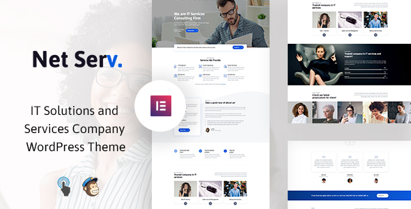 Netserv - IT Solutions and Services Company WordPress Theme