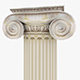 Roman Ionic Piller Low Poly - 3DOcean Item for Sale