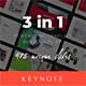 3 in 1 Multipurpose Keynote Template(Vol.09) - GraphicRiver Item for Sale