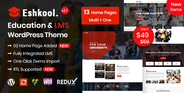 Eshkool - Education WordPress Theme