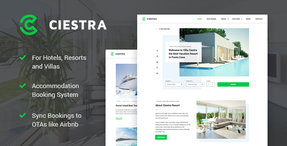 Resort Hotel WordPress Theme - Ciestra