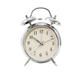 Silver alarm clock on white_-2 - PhotoDune Item for Sale