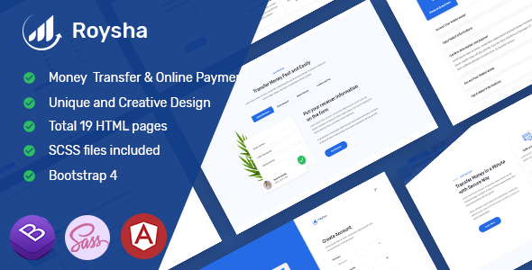 Roysha - Angular Money Transfer and Online Payments Template