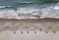 Straight down aerial view of beach and ocean waves in Myrtle Beach, South Carolina. - PhotoDune Item for Sale