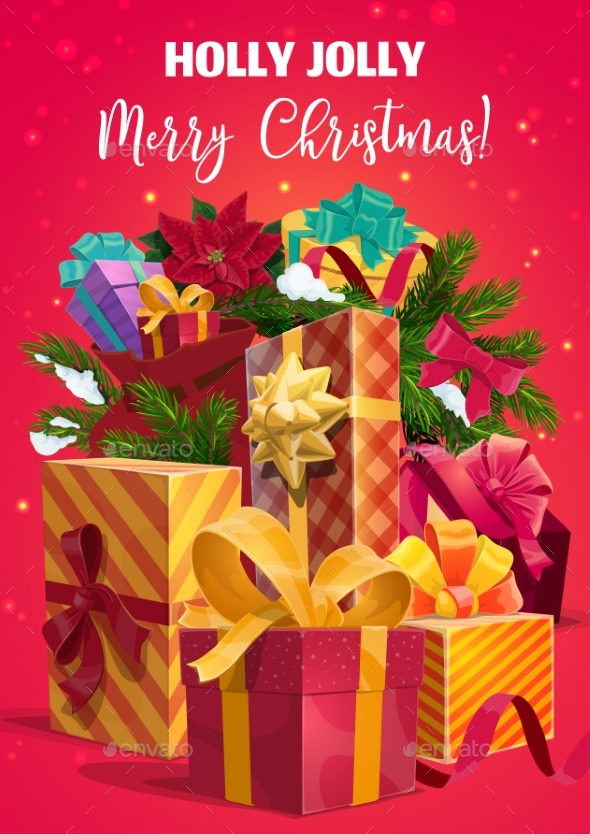 Christmas Holiday Gifts and Present Boxes