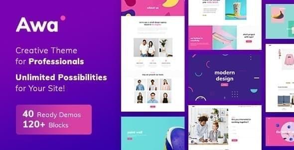 Awa - Portfolio WordPress
