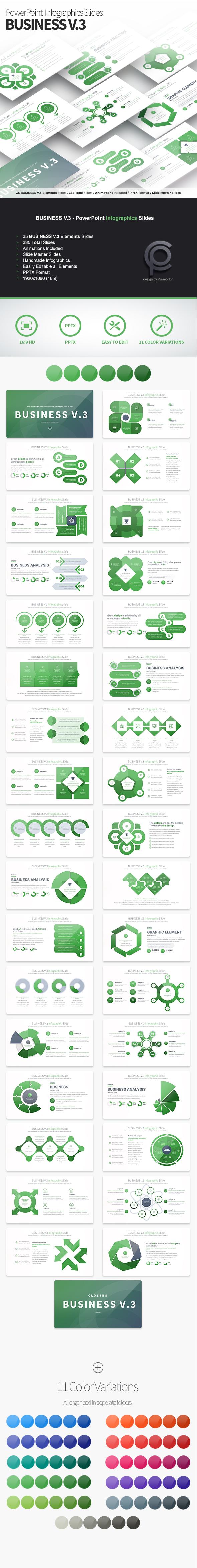 BUSINESS V.3 - PowerPoint Infographics Slides