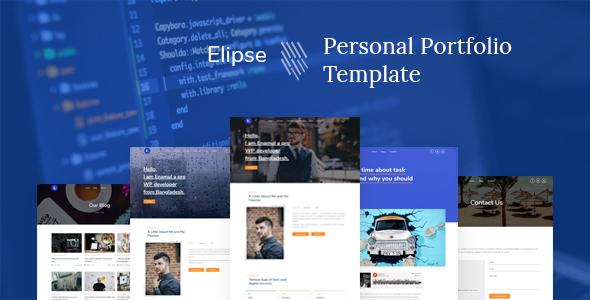 Elipse - Personal Portfolio HTML5 Template
