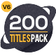 200 Titles Collection   Premiere Pro - VideoHive Item for Sale
