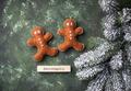 Christmas gingerbread men made of felt - PhotoDune Item for Sale