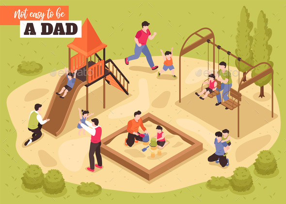 Playground Isometric Vector Illustration