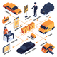 Isometric Taxi Service Flowchart - GraphicRiver Item for Sale