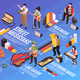 Street Performers Isometric Flowchart - GraphicRiver Item for Sale