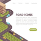 Road Icons Landing Page - GraphicRiver Item for Sale