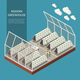 Modern Greenhouse Complex Concept - GraphicRiver Item for Sale