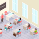 School Classroom Isometric Background - GraphicRiver Item for Sale