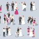 Wedding Isometric Icons - GraphicRiver Item for Sale