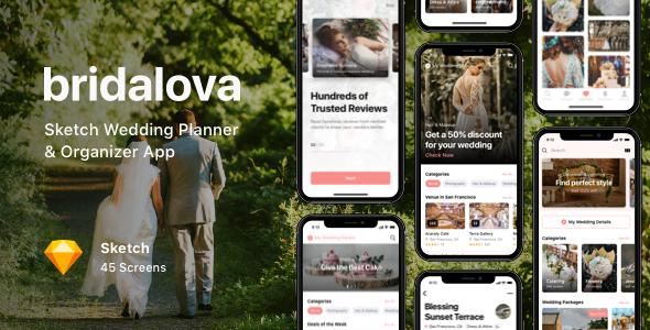 Bridalova - Sketch Wedding Planner & Organizer App