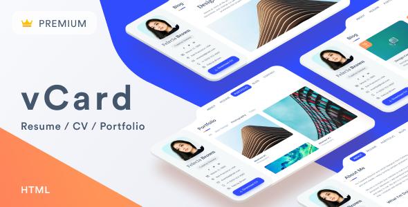 vCard2 – Resume / CV / Portfolio