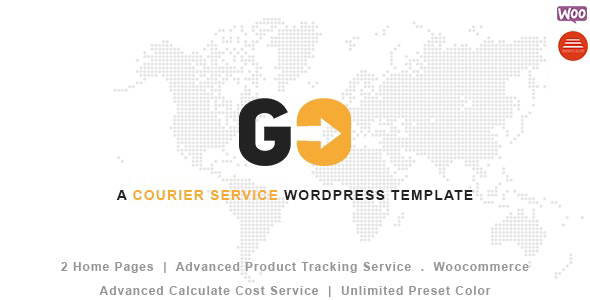 GO Courier– Delivery Transport WordPress Theme