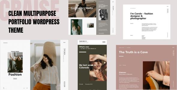 Craise - Multi-Purpose WordPress Portfolio Theme