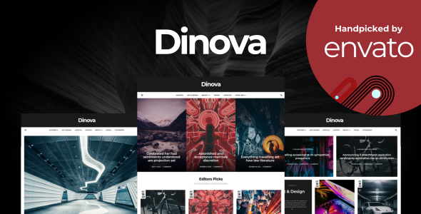 Dinova - Alternative Magazine Gutenberg Theme