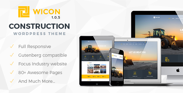 Wicon | Construction & Building WordPress Theme