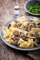 Pasta tagliatelle  with  mushrooms - PhotoDune Item for Sale