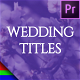 Floral Wedding Titles - Premiere Pro   Mogrt - VideoHive Item for Sale