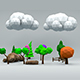 Low Poly Tree and Nature Set - 3DOcean Item for Sale