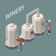Wine Production Isometric Composition - GraphicRiver Item for Sale