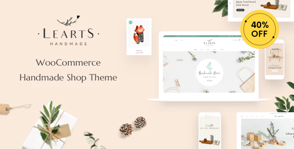 LeArts - Handmade Shop WooCommerce WordPress Theme