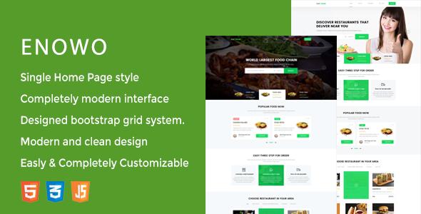 Enowo - Restaurants  Responsive HTML Template